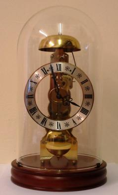 modern german skeleton mantel clock