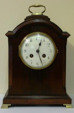 french 8 day japy freres stained oak and mahogany bracket clock