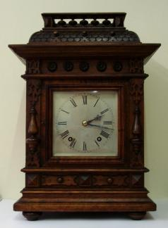 mahogany cased 8 day ting tang mantel clock by winterhalder & hofmeier