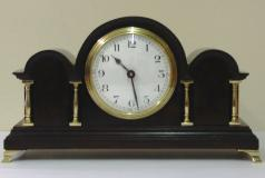 french 8 day mantel clock timepiece in a triple dome decorative mahogany case