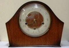 english smiths 8 day westminster chime mantel clock oak cased