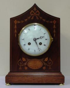 french 8 day mantel clock by vincenti striking on a gong
