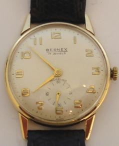 9ct gold bernex swiss presentation manual wind wrist watch