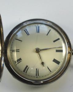 english full hunter fusee pocket watch silver cased - carter of rochford