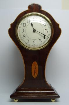 mantel clock french mahogany inlaid 8 day