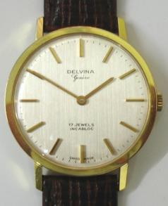 delvina geneve swiss manual wind 17 jewel incabloc wrist watch