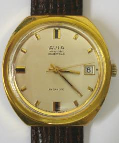 swiss avia matic automatic wrist watch ETA 25 jewel incabloc movement