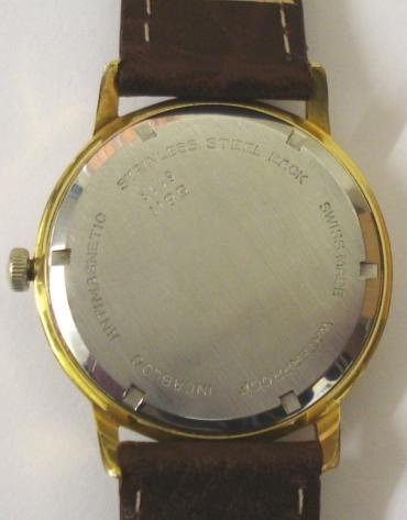 Swiss Avia Olympic manual wind wrist watch in a gold plated case with stainless steel back, on a brown leather strap with gilt buckle. Silvered dial with gilt baton hour markers and matching gilt hands with sweep seconds hand and date display at 3 o/c. Signed 17 jewel Avia King AS1703 movement with screw on case back numbered #5811 & 6118.